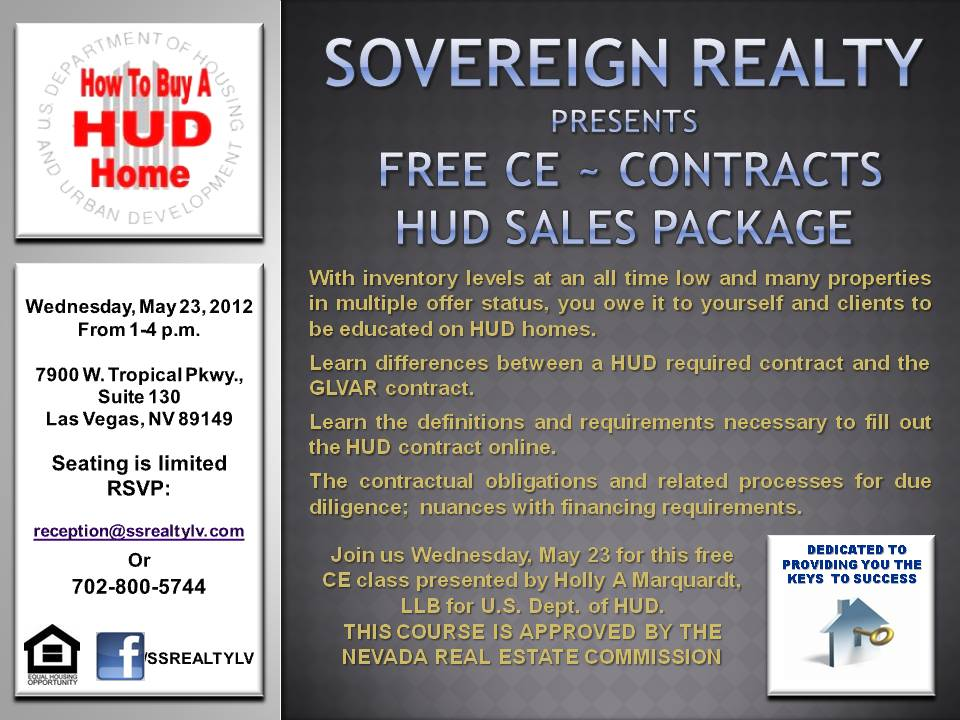 Las Vegas HUD education - Free Continuing Education